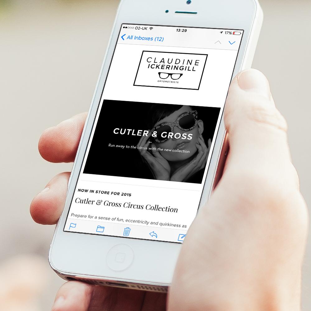 Claudine Ickeringill Email Newsletter Template